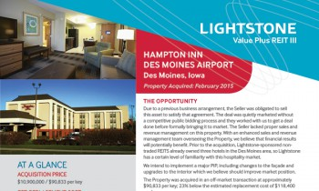Hampton Inn, Des Moines Property Fact Sheet