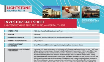 REIT III Investor Fact Sheet