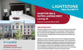 Hampton Inn & Suites, Lansing Property Fact Sheet