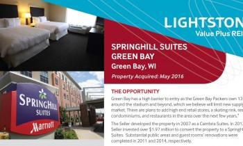 Springhill Suites, Green Bay Property Fact Sheet