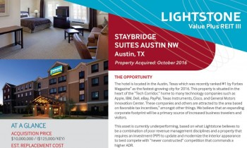 Staybridge Suites Austin NW — Austin, TX Property Summary